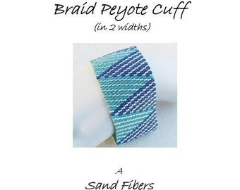 3 for 2 Program - 2-Drop Log Cabin Peyote Cuff (in 2 widths) - For Personal Use Only PDF Pattern