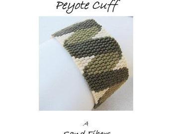Peyote Pattern - Twisted Ribbon Peyote Cuff / Peyote Bracelet - A Sand Fibers For Personal Use Only PDF Pattern - 3 for 2 program
