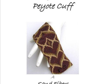 3 for 2 Program - Red Bargello Hearts Peyote Cuff - For Personal Use Only PDF Pattern