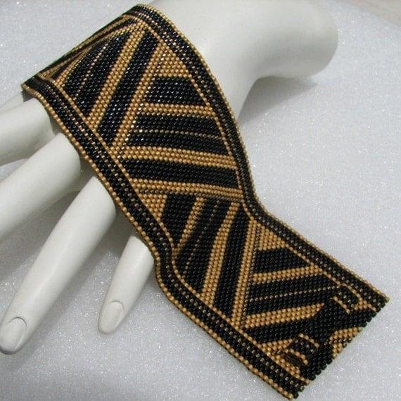 Catherine's Braid  Peyote Cuff Bracelet (2502)