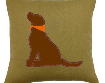 Custom Boutique Labrador Retriever Pillow