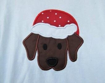 Custom boutique Christmas Applique Puppy