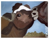 3 Kissing Cows Cards