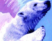 50 Percent to EFA Charity of the Month -  3 Polar Bear Cub Cards