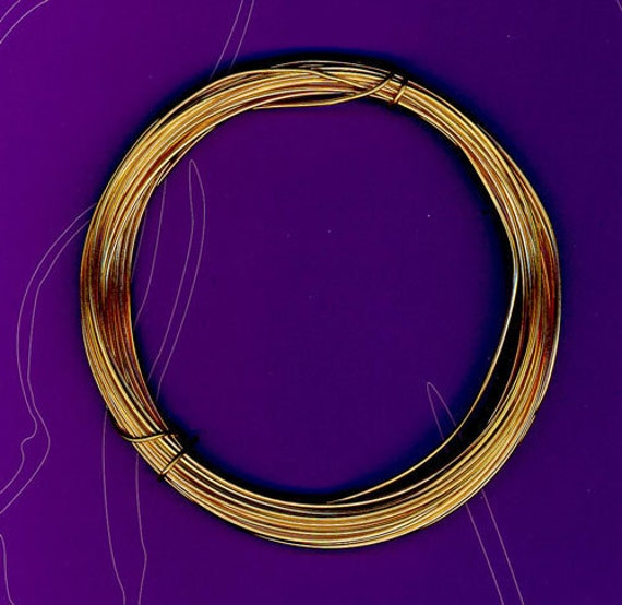 Gold Plated Wire in 22 Gauge (5 feet)