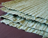Seeing Green - Two sheets of Ridged Handmade Paper