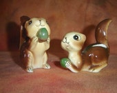 Vintage Nutty Buddies chipmunk salt and pepper shakers