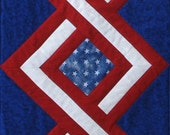 Quilted Star Spangled Table Runner