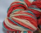 bird on a wire 144 yards handspun hand dyed yarn