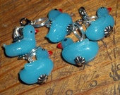Stitch markers - Blue Ducks