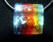 Rainbow Bright Dichroic Glass Necklace