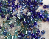 Blue Seed Bead Mix 2-3mm