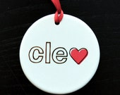 cleveland love ornament