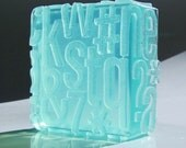 Typography Soap - Crushed Ice