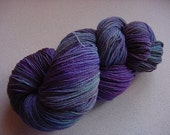 Hand Painted Sock Yarn - STORMY MIDNIGHT