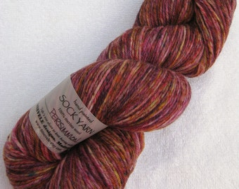 Speckled Sock Yarn in Persimmon