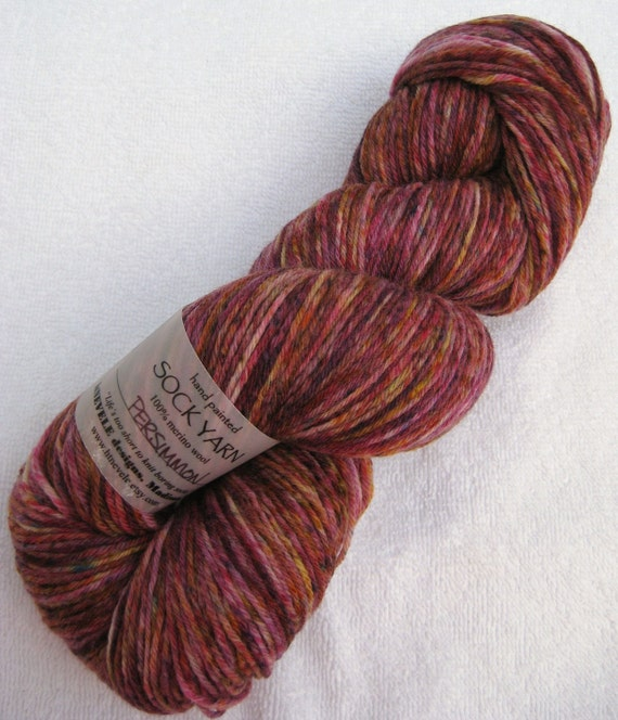 Speckled Sock Yarn in Persimmon