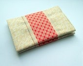 Fabric and Ribbon Card Cozy small holder for business cards, gift cards, loyalty cards, id