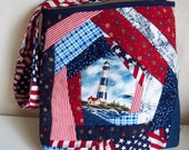Lighthouse Quilted Tote Bag
