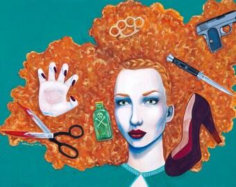armory- original acrylic on canvas painting by tucsonan- anna bronwyn murphy
