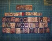 Wooden Letter Press Letters - Bloomingdales