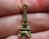 Eiffel tower charms gold oxidized 15