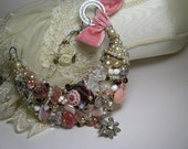 Stunning pink bib necklace