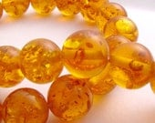 honey amber beads round 10mm