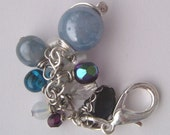 blue bead bag charm