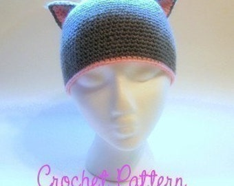 Crochet Pattern: Kitty Cat Beanie