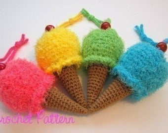 Crochet Pattern: Ice Cream Cone Wristlet/Purse