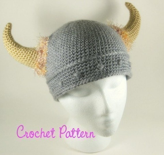Barbarian Viking Beanie Crochet Pattern
