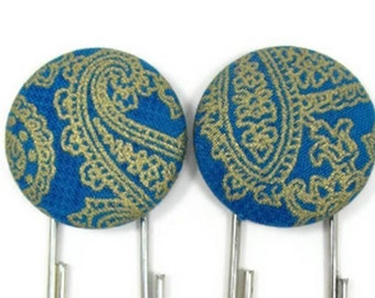 Set of 2 Jumbo Paperclips in Royal and Gold