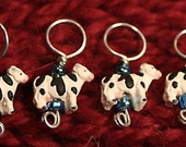 Cow Stitch Markers (set of 4)