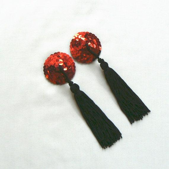 Red Nipple Tassels Small-5361