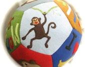 Personalized Giant Fleece Ball - MONKEY Themed