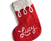 Personalized Christmas Stocking - Red - One