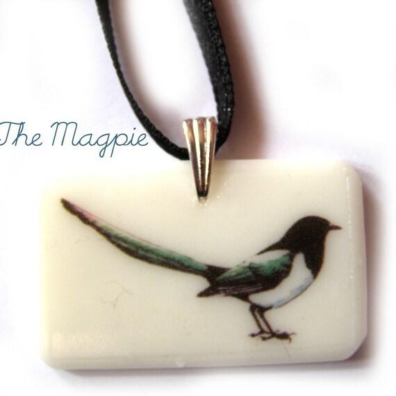 The Magpie Pendant (mark 2) - bird watching PENDANT