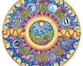 Ocean Landscape Mandala Art Greeting Card - Blank - Birthday card gift for friend