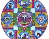 Capricorn Astrology Mandala Art Card - Inspirational Geometric Patterned Art