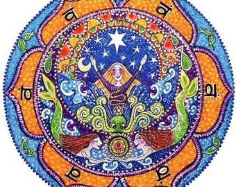 2nd Chakra Mandala Art Print - Swadhistan - Healing Art yoga meditation mandalas