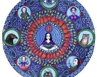 Scorpio Astrology Mandala Art Print Astrology Art Zodiac Print November birthday gift for friend scorpio art