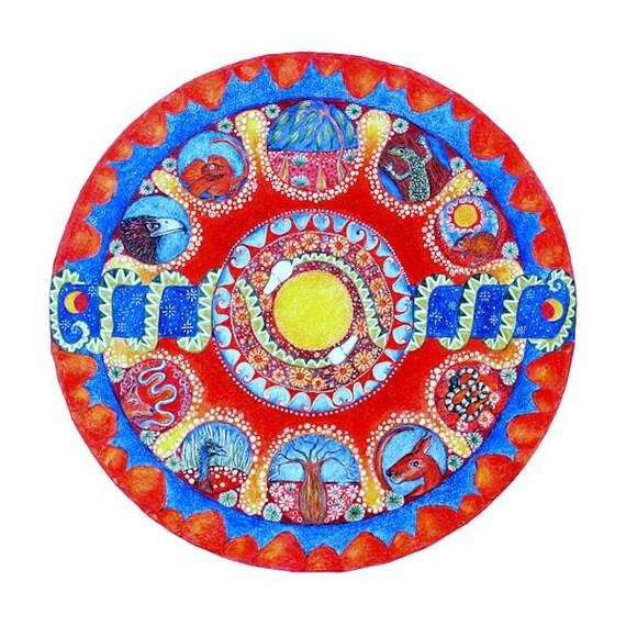 Desert  Landscape Mandala Card mandala art Australian Desert