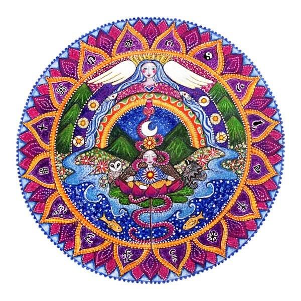 Crown Chakra Mandala art print 7th chakra sahasrara chakra art