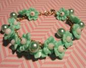 Sweet Minty Blossom Bracelet