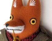 Professor Fox 2 wool doll