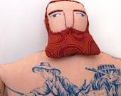 Big tattoo man with Red Beard