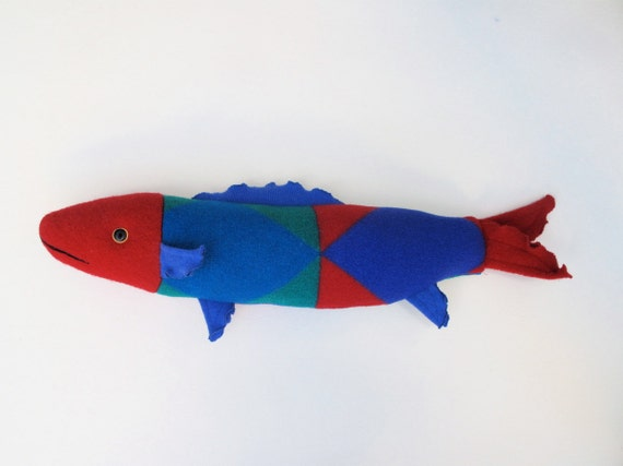 fresh fish pillow- bright