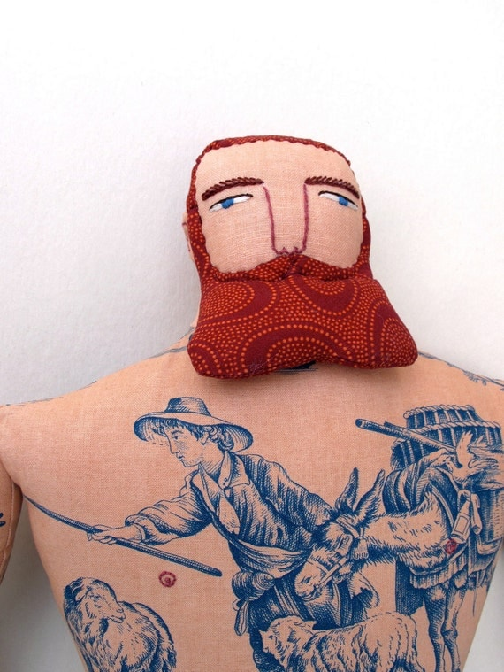 Big tattoo man with Red Beard