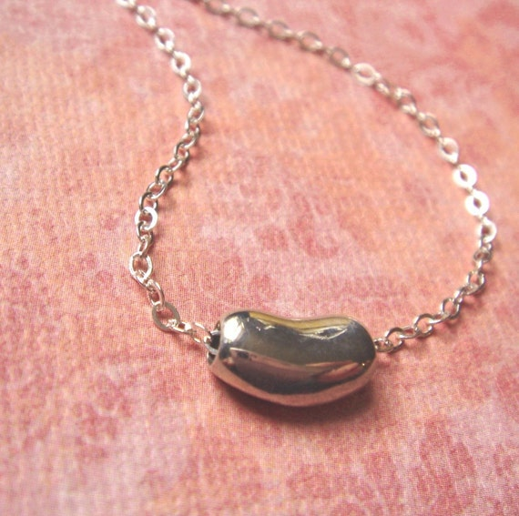 Sweet Baby Bean sterling necklace